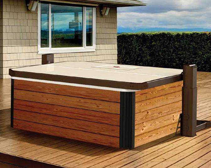 Covana Horizon   Automated Covana Covers   hot tub gazebo