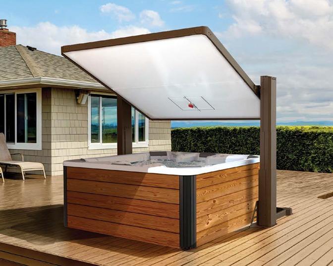 Covana Horizon | Automated Covana Covers | hot tub gazebo